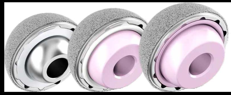 Pinnacle usementert acetabular kopp