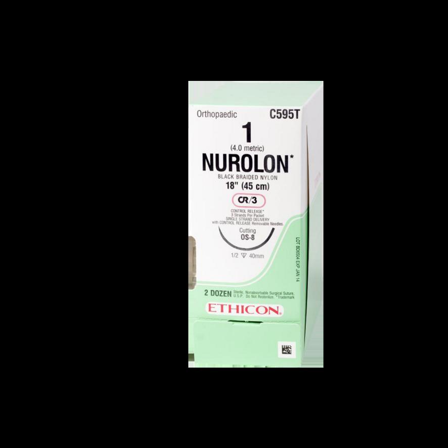 Ikke-resorberbar sutur – NUROLON Nylon Suture